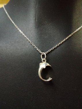 Sada stříbrné náušnice s přívěskem - delfínci