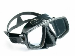 Maska LOOK černá lícnice,potápěčské brýle, Technisub